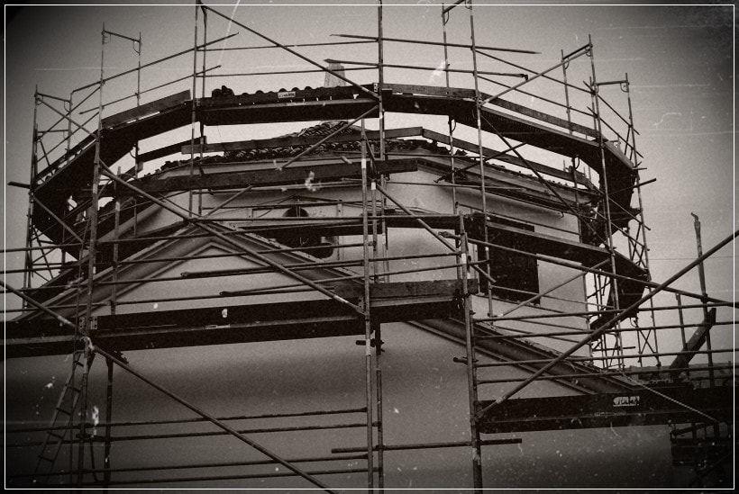 Imagen construcción de la parroquia
