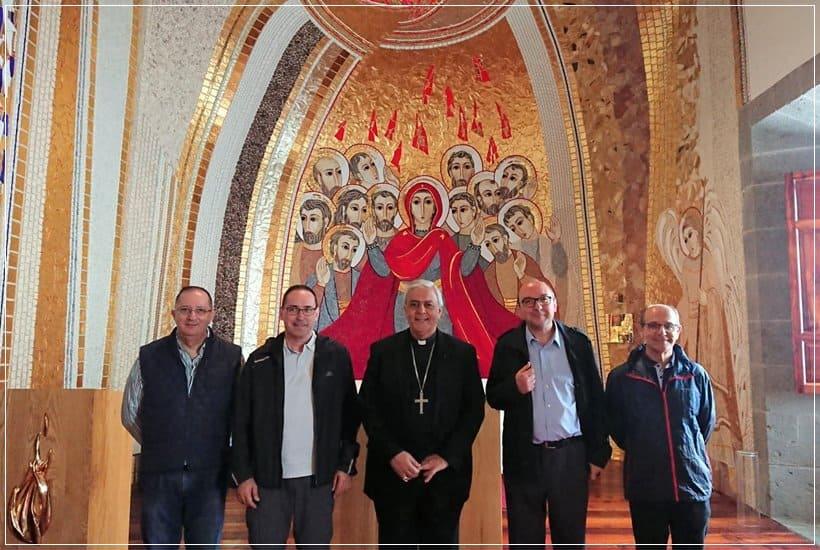 Obispo de Tenerife con Padre Provincial